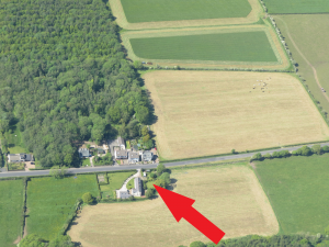 Fund us - Leesrigg Cottage holiday cottage from the air